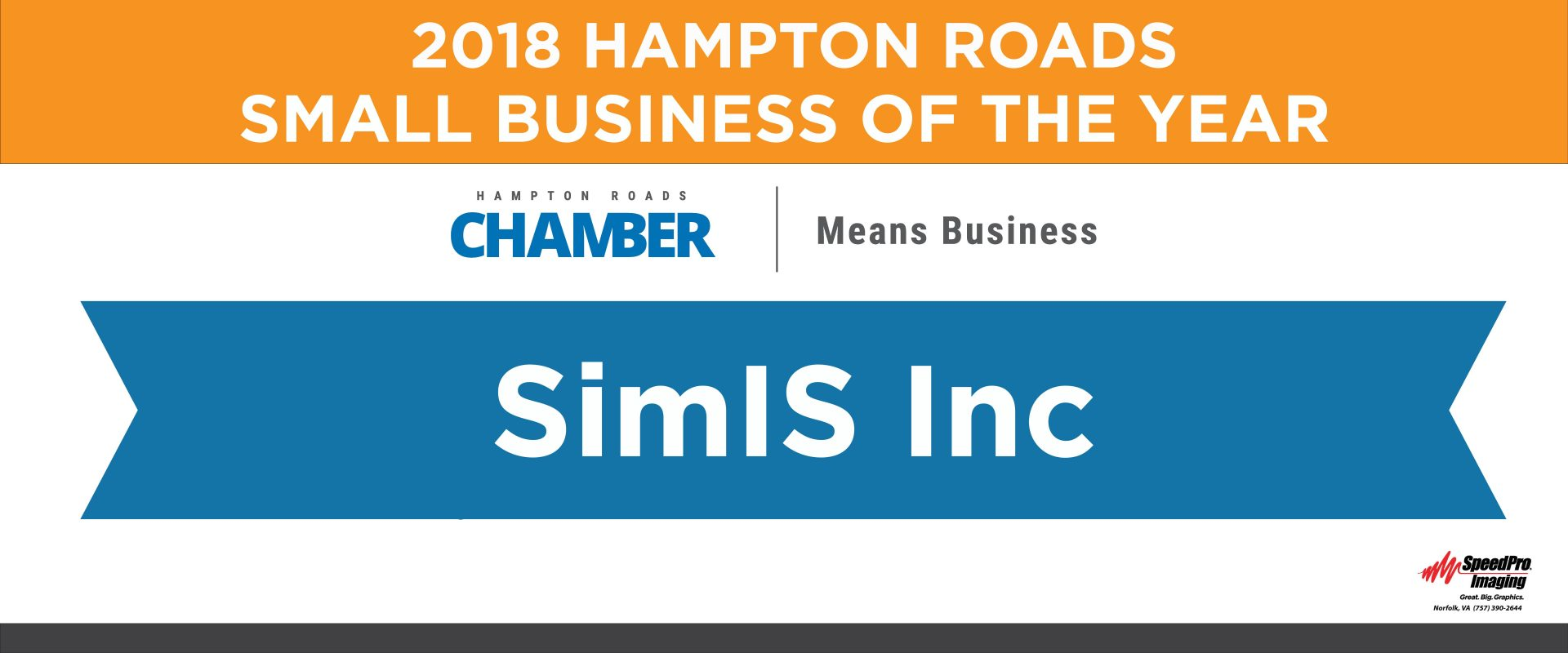 SimIS 2018 Hampton Roads Small Business Of The Year